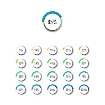 현실적인 요소와 현대 비즈니스 인포 그래픽입니다. 백분율