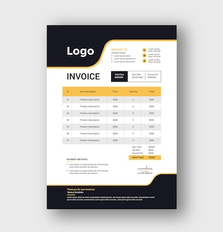 Modern business invoice template design