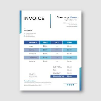 Modern business invoice template