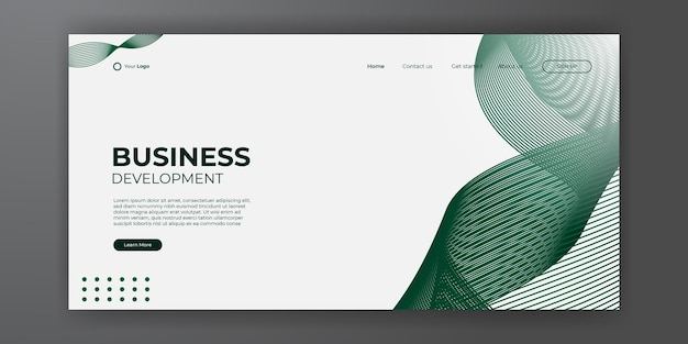 Предпосылка конспекта целевой страницы современного дела. веб-дизайн шаблона фона с современной формой и простой технологической концепцией. векторная иллюстрация