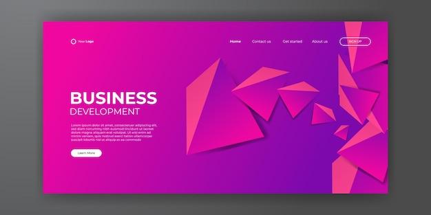 現代のビジネスのランディングページの抽象的な背景。モダンな形とシンプルな技術コンセプトのweb背景テンプレートデザイン。ベクトルイラスト