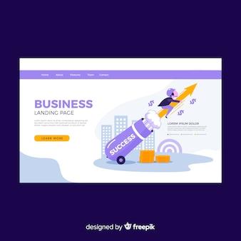 Modern business landing page