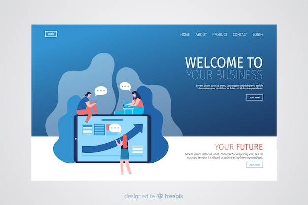 Modern business landing page