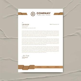 Modern business letterhead design template, corporate identity, corporate letterhead, stationery