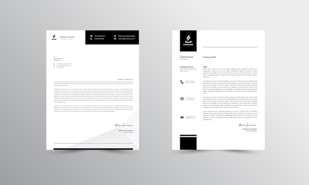 현대 비즈니스 편지지 디자인 서식 파일