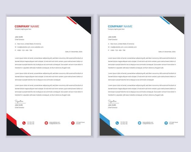 Modern business letterhead design template