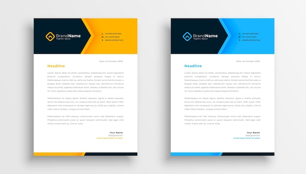 Modern business letterhead template design