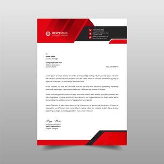 Modern business letterhead  template  orange & black