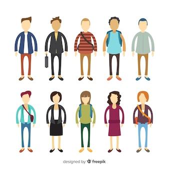 Современные деловые люди с плоским дизайном