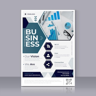 Modern business poster print template