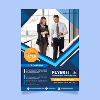 Modern business poster template