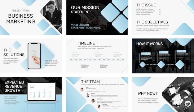 Modern business presentation template, corporate profile