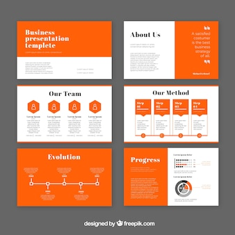 Modern business presentation template