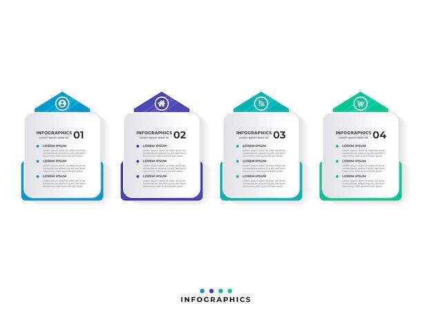 Modern business process timeline infographics
