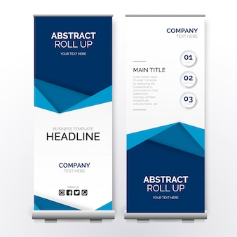 Modern business roll up with papercut shapes