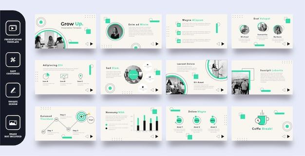현대 비즈니스 슬라이드 프레젠테이션 템플릿