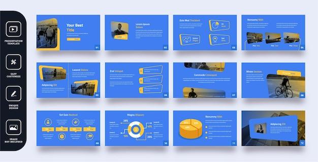 Modern business slide presentation template