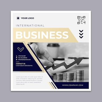 Modern business square flyer template
