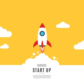 Modern business start up background