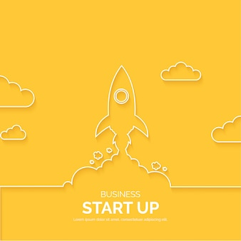 Modern business start up lines background
