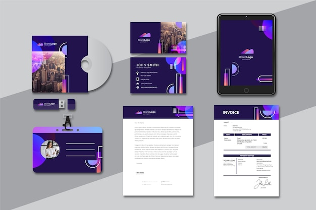 Modern business stationery collection