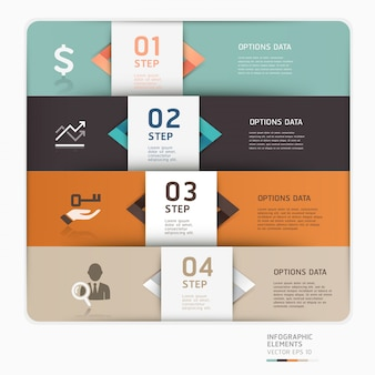 Modern business step up options template can be used for workflow layout, diagram, number options, web design, infographics.