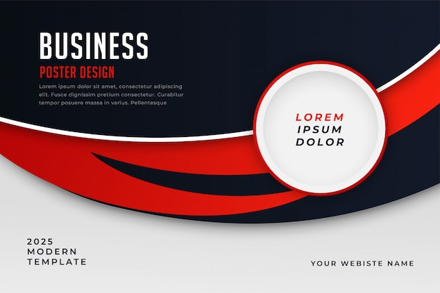 Modern business style red theme presentation template