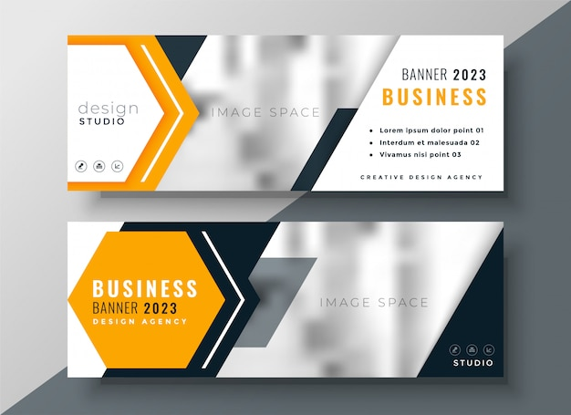 Modern business template with text and image space