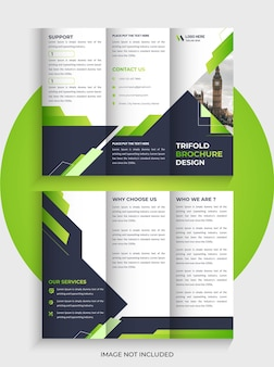 현대 비즈니스 trifold 브로셔 템플릿 디자인과 독특한 trifold 모양
