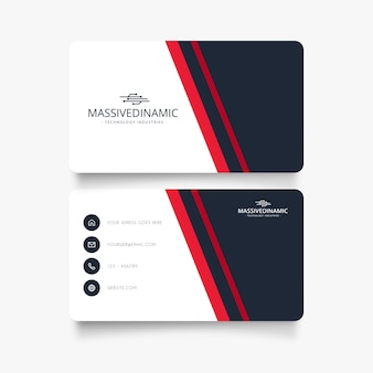 Modern business visit card with minimal desing