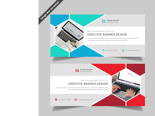 Modern business web banner design