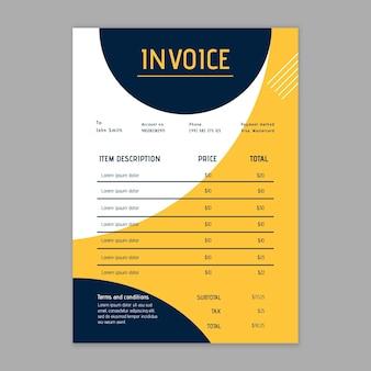 Modern businesswoman invoice template