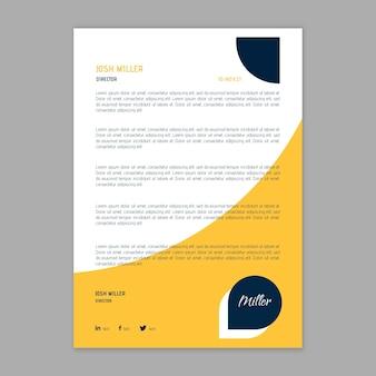 Modern businesswoman letterhead template