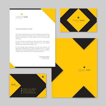 Modern businnes stationery collection