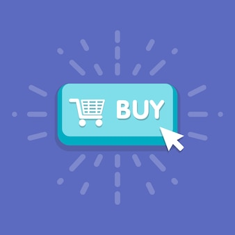 Modern buy button design with mouse click symbol.