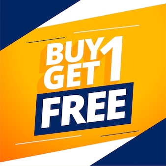 Modern buy one get one free banner