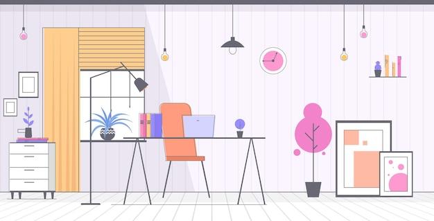 현대 캐비닛 인테리어 빈 아니 사람 사무실 가로 그림