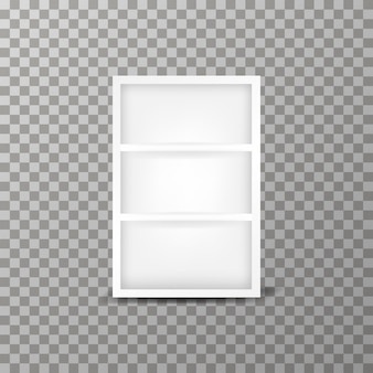 Modern cabinet vector template on the transparent background