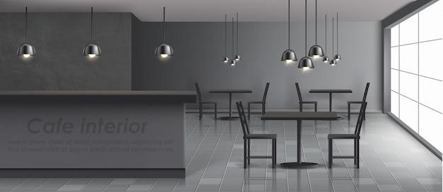 Modern cafe banner