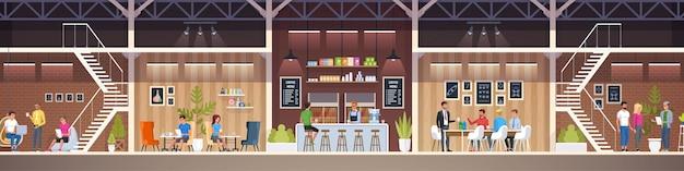 Modern cafe illustration