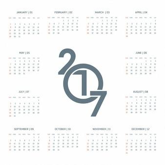 2017 календарь