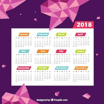 Modern calendar 2018