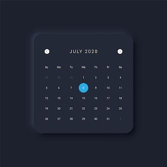 Modern calendar interface