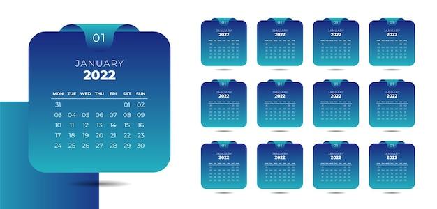 Modern calendar template for new year