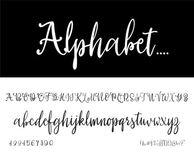 Modern calligraphy vintage handwritten  vector font for lettering