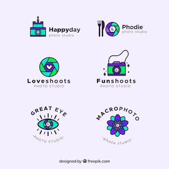 Modern camera logo collection