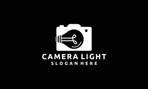 Modern camera photography ideas with light bulb logo