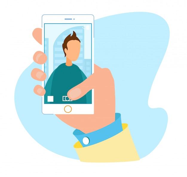 Modern camera user interface for smartphone advert