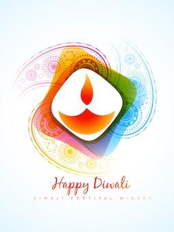 Modern candle design for diwali