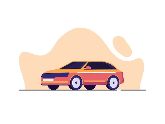 Modern car illustration in flat style